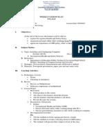 Lesson Plan OHS Procedure