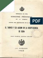 Gabriel Garcia Galan - El Tabaco y Su Accion en La Independencia de Cuba