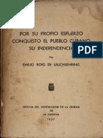 Por Su Propio Esfuerzo Conquisto El Pueblo de Cubano Su Independencia