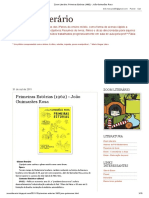 Zoom Literário_ Primeiras Estórias (1962) - João Guimarães Rosa