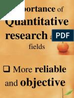 Quantitative Research SHS