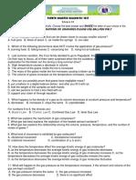 Science 10 Summative Test