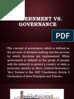 Government vs Governance