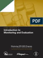 Monitoring HIV-AIDS Programs (Facilitator) - Module 1