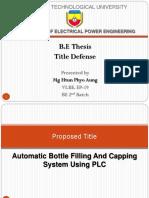 1.Title Defense