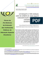 Um Mosquito e Três Doenças Ação de Combate Ao Aedes Aegypti e Conscientização Sobre Dengue, Chikungunya e Zika Em Divinópolismg, Brasil