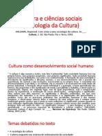 Cultura e Ciências Sociais (Sociologia Da Cultura