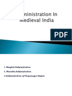 Administration in Medieval India (1)