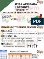 ESTADISTICA. MEDIDAS DE TENDENCIA CENTRAL