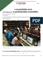 Universidades Encarriladas en La Formación de Profesionales Sostenibles