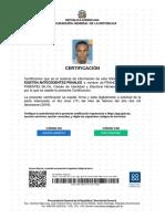Certificado No Antecedentes Penales