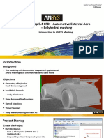 Mesh Intro 18.0 WS5.4 CFD Workshop Instructions Auto Ext Aero Poly