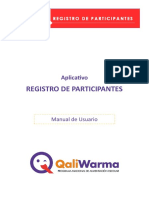 Manual Aplicativo Registro Participantes