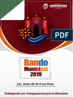 BANDO MUNICIPAL TEMASCALCINGO