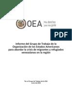 Informe OEA Migrantes y Refugiados Venezolanos