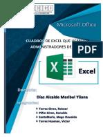 Cuadros de Excel Que Usan Los Administradores de Obras