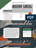 Programación Lineal y Solver