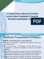 Juicio Deslinde de Propiedaes Contiguas 11-09-15