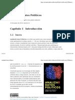 Analizar Datos Politicos - Cap.1 Introducción