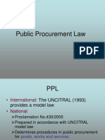 Public Procurement Laws