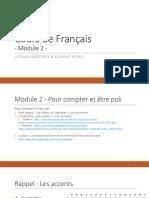 Cours de Français - Module 2