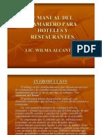 Manual Para Camareros de Hoteles y Restaurantes