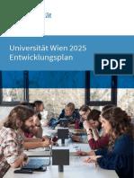 Entwicklungsplan Universität Wien 2015