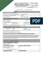 Formato de Investigacion de Accidentes de Trabajo