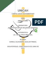 Sindicalismo recursos humanos.docx