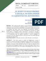 Kant e Paulo Freire