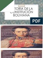 Historia de La Constitución Boliviana