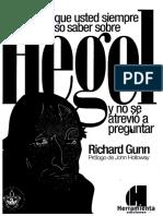 Lo Que Usted Siempre Quiso Saber Sobre Hegel. Gunn, Richard