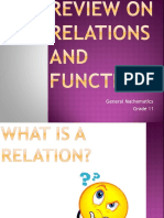 Day 1 - Review on Relations and Functions