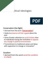 Lesson 2 Political Ideologies