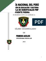 Silabo de Primeros Auxilios 2013
