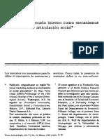 Mintz Sidney, Sistemas de Mercado Interno Como Sistema de Articulacion Social