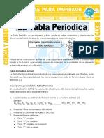 Ficha La Tabla Periodica Para Sexto de Primaria
