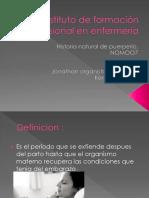 Historia Natural de Puerperio