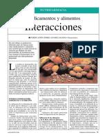 Medicamentos y Alimentos. Interacciones