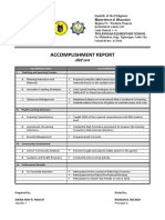 Teachers Accomplishment Report