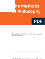 The Methods of Philosophy