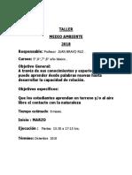 Taller de Medio Ambiente 2018