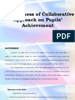 EFFECTIVENESS OF COLLABORATIVE APPROACH ON PUPILS' ACHIEVEMENT IN SCES.pptx