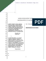 Sharp et al vs Becerra 2019 6 26 Order Denying Motion to Dismiss