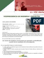 Alerta HSE - Ruptura de Accesorio