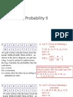 Probability II