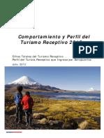 Comportamiento y perfil del turismo receptivo año 2012