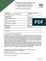 Sílabo Psicoterapia Familiar Sistémica 2014-2015