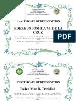 2nd Sem Certificates