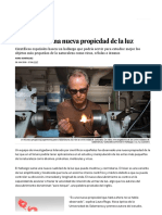 Descubierta Una Nueva Propiedad de La Luz - Ciencia - EL PAÍS